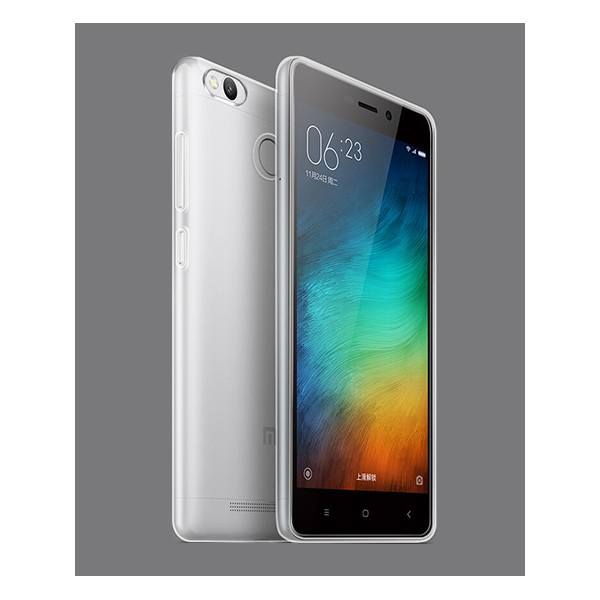 ultra thin clear crystal tpu silicone case cover for redmi