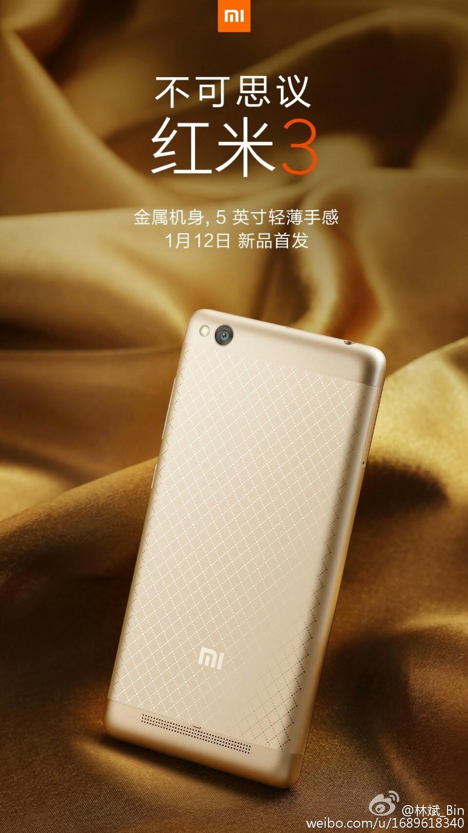 Xiaomi Redmi 3 To Launch On 12 Jan Full Metal Body 5 Inch Display Xiaomiredmi 105633ddvzc2ivcdx1ii2g 104247njhtvej5h9zjg9tg