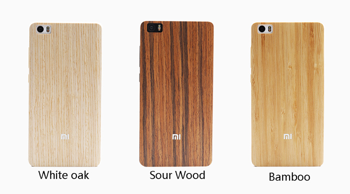 Original Woo Bamboo Protective Case Cover For Xiaomi Mi Note
