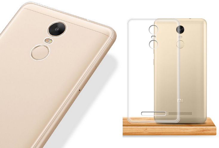 Ultra-thin Clear Crystal TPU Silicone Case Cover for Redmi Note 3