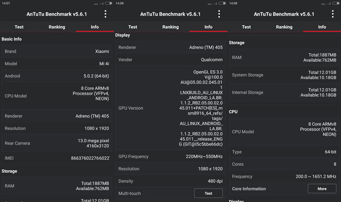 Xiaomi Mi 4i 4G Dual Sim Card
