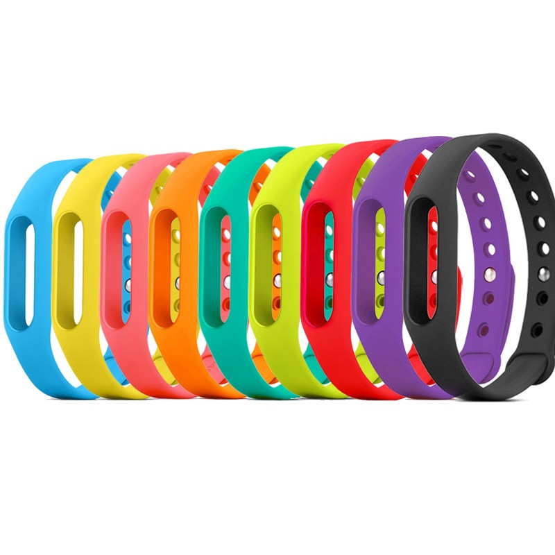Colorful Silicone Wrist Strap For Xiaomi Mi Band A Nice
