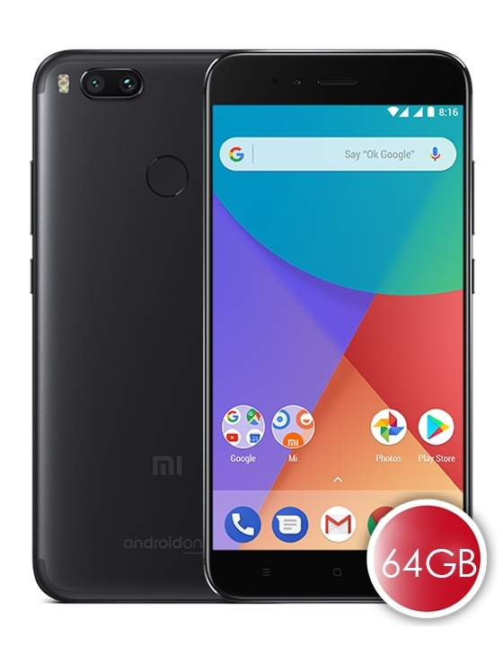 xiaomi mi a1 official global version 64gb rom 4gb ram black. Black Bedroom Furniture Sets. Home Design Ideas